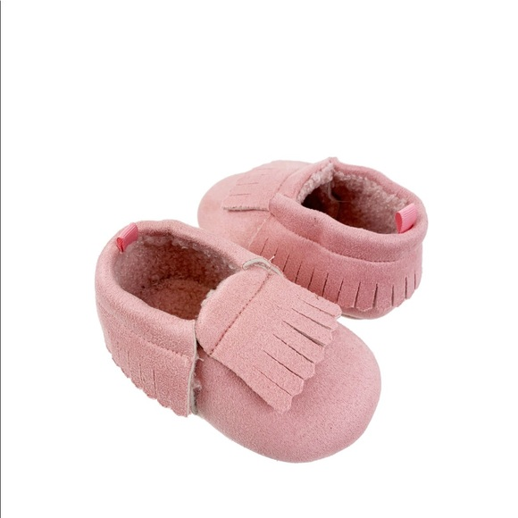 Other - Baby girl toddler pink moccasins
